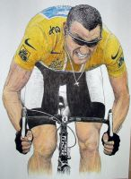 Lance Armstrong by machoart