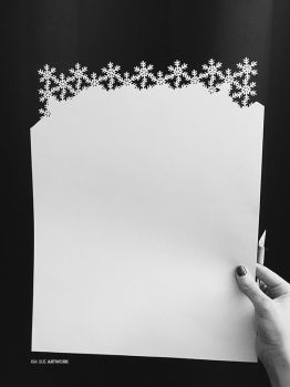 snowflakes papercut pattern - progress by KiaSuee