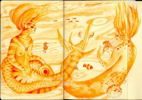 Mermaids by LadyOrlandoArt