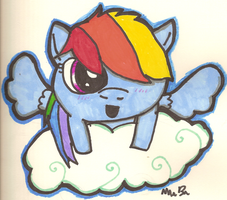 Rainbow dash foal. by ninjacookie19