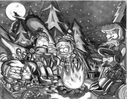 Camping Out by simpspin
