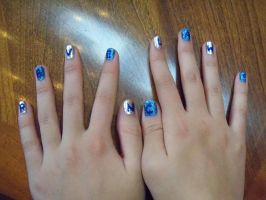 Ravenclaw Pride Nail Polish by TimelordWitch10