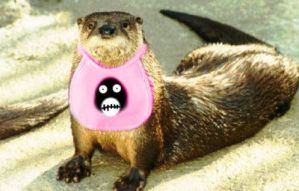 Otter in a Bib by black-lupin
