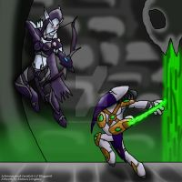 Heroes of the Storm- Sylvanas vs. Zeratul by remanlongtail