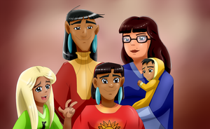 Kuzco and MrsEddward family portrait by Riadorana