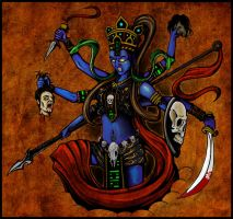 Kali - Coloured 1 by Bozrocket