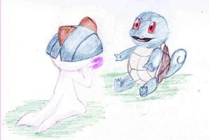 Ralts and Squirtle Coloured by Deluxe0111