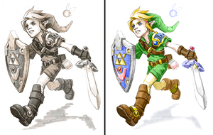 Link ~ coloured and touched up by Dean-S