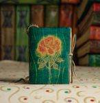 Pocket Size Green Rose Book by gildbookbinders