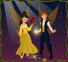 Fairy Princess Belle and Prince Adam by ArielxJim08