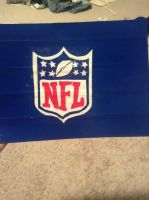 NFL duck tape painting by crazyforducttape77