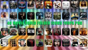 40 Movie Droid Folder Icons by fandvd