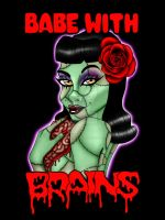 Rockabilly Zombie Girl by Sanguinarian-Craving