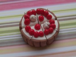 strawberry cake in fimo by sleeping-dog
