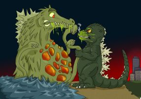 Godzilla vs Biollante by Natsuakai