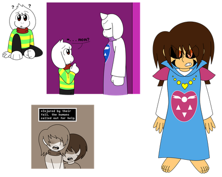 AU where Frisk and Asriel switch places?? by GamingInGreen13
