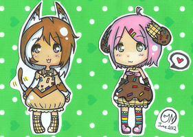 (CLOSED) Adoptable Auction #2- Choco-Dream Set by Imimi-Ai