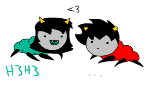 Terezi and Karkat by Torn-apart-paper