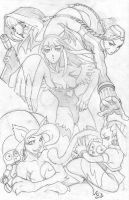 DarkStalkers-Street fighter by nctorres