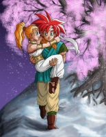 Chrono and Marle by Risachantag