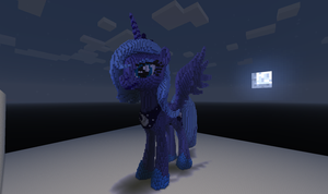 3D Minecraft Luna by Felix-KoT