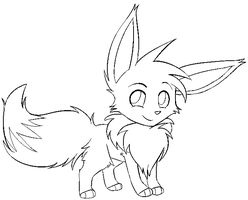 Eevee lineart by staticclaw
