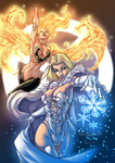 Phoenix and Emma Frost by padisio