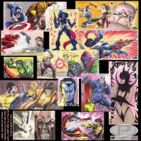 Marvel Premier sketchcards by whu-wei
