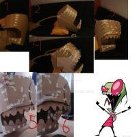 Invader zim head part 1 by sedra60