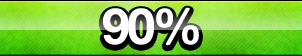 90% Progress Button by ButtonsMaker