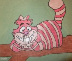The Cheshire Cat drawing by chloesmith8