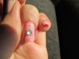 Ballet Inpired Nail Art Closeup by QueenAliceOfAwesome