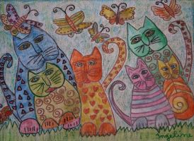 new years cats by ingeline-art