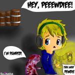 .:Pewdiepie:. and Those Damn BARRELS by sclirada
