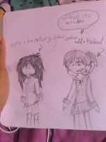 Ouran school uniforms(mokuba and rylee) by themartyrlover