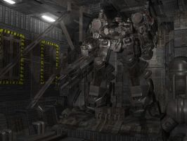 Armored Core Hangar by sevenmelons83