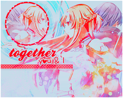 Signature Banner: Asuna and Kirito by bakaprincess85