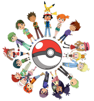 Pokemon Chibi Circle by sesachii