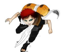 Gaara - Colored by SesshiOtaku12
