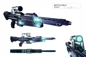 Battle rifle scoped by DESTRAUDO