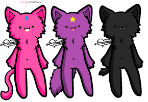 Bubblegum, LSP, and Marcy by applethecat