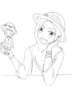 luffy and MEE by enesanime