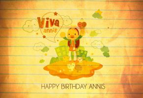 Annis Birthday Tribute Art Textured by 030079