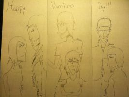 Happy Valentines Day(My Characters) by DeathsLittleBirdie