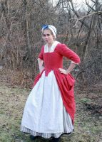 1770's Rose Gown Front by Goldenspring