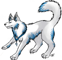 Blue Tipped Wolf by Zaxerutag