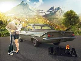 Manipulacao love and car by LanzaDesigner
