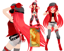 MMD Insanity Miki by RandomDraggon