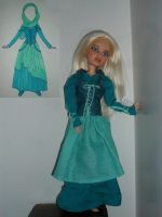 Turquoise Doll Dress by kayanah