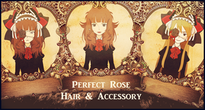 Kisekae - Perfect Rose Hair and Accessory by Finnija